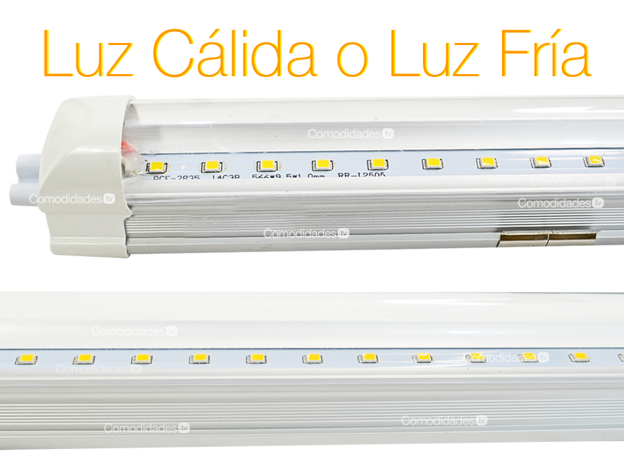 Tubo de led t8 16w base aluminio luz blanca o calida 120cm for Luz blanca o calida